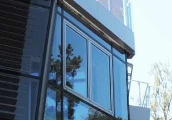 Дерево-алюминиевые окна и двери